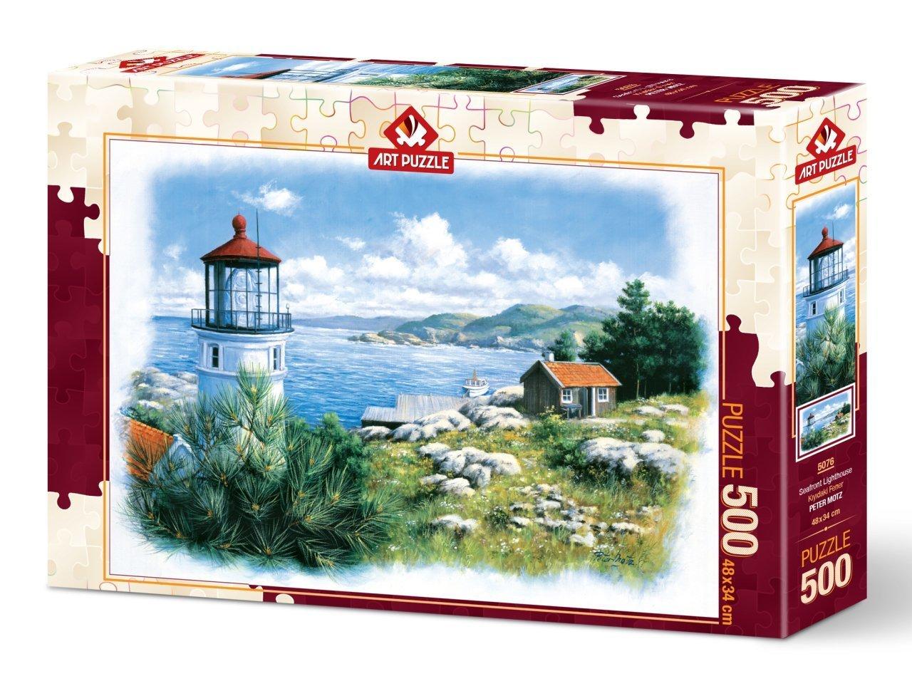 Puzzle Art Puzzle Faro Frente al Mar de 500 Piezas