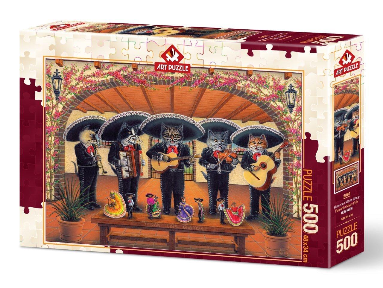 Puzzle Art Puzzle Gatos Mariachis de 500 Piezas