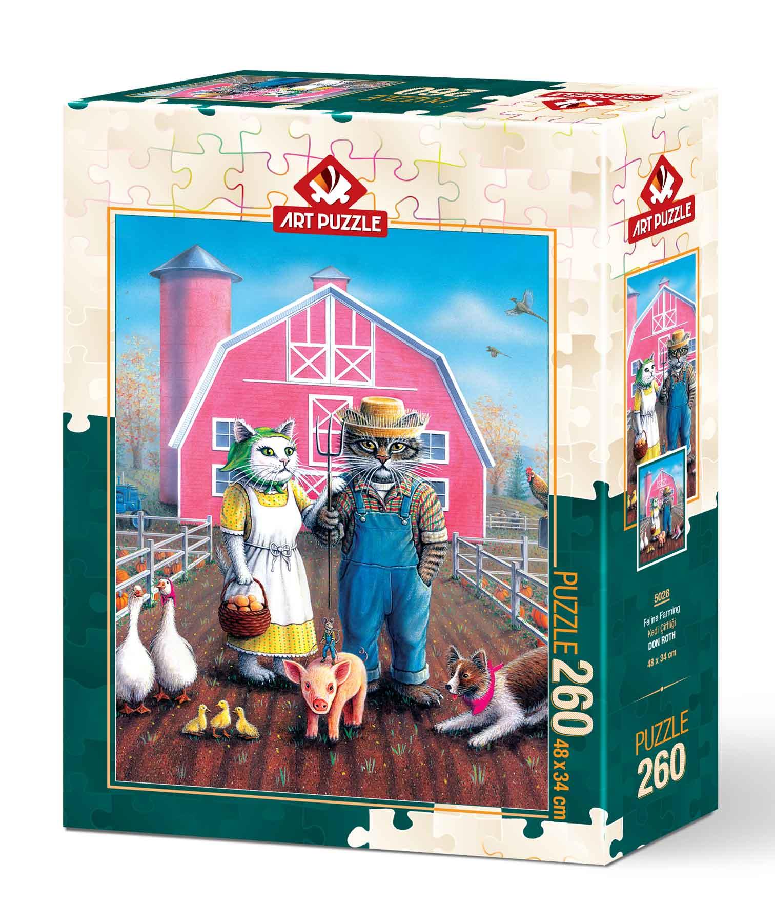 Puzzle Art Puzzle Granja Felina de 260 Piezas