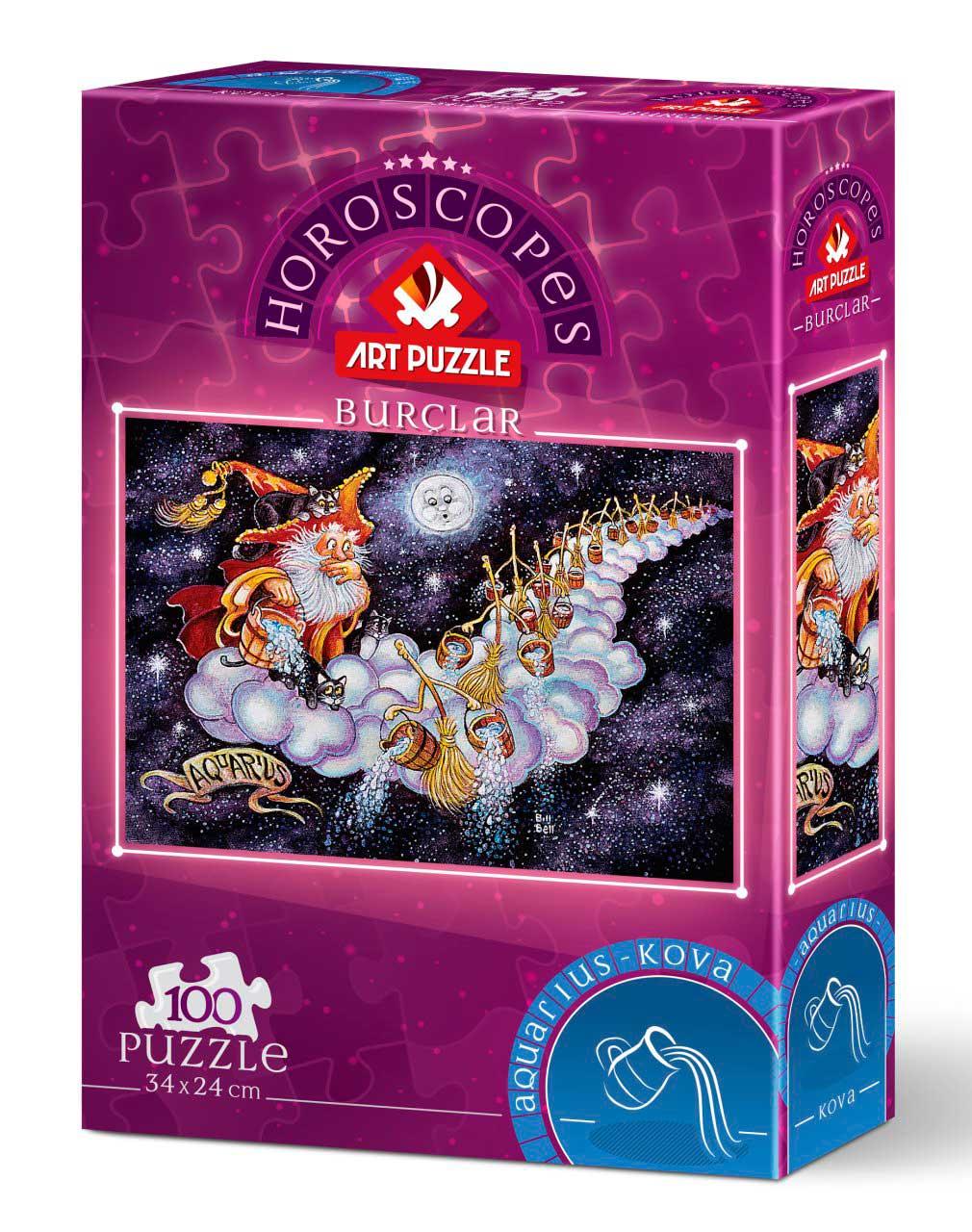 Puzzle Art Puzzle Horóscopo Acuario de 100 Piezas