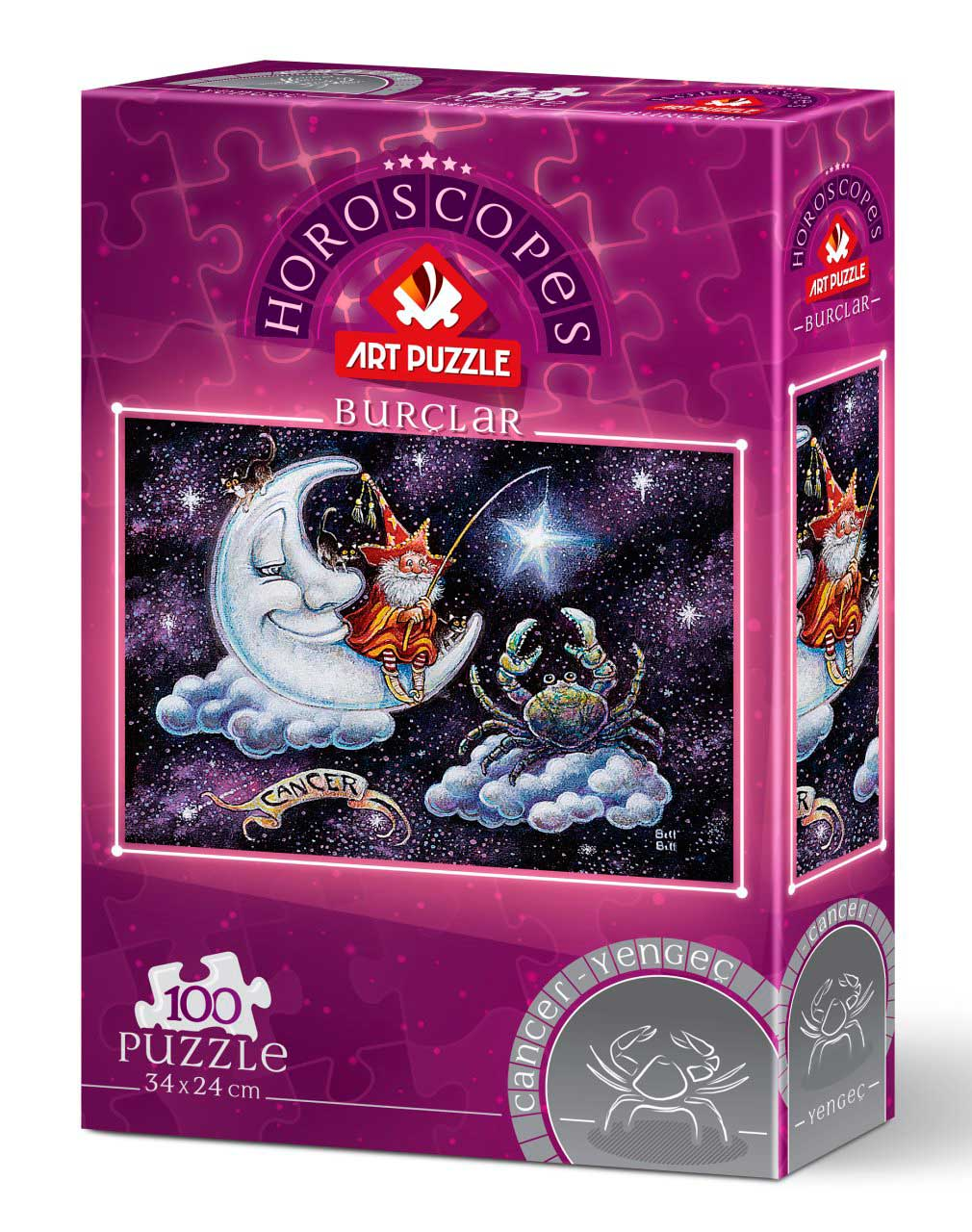 Puzzle Art Puzzle Horóscopo Cáncer de 100 Piezas