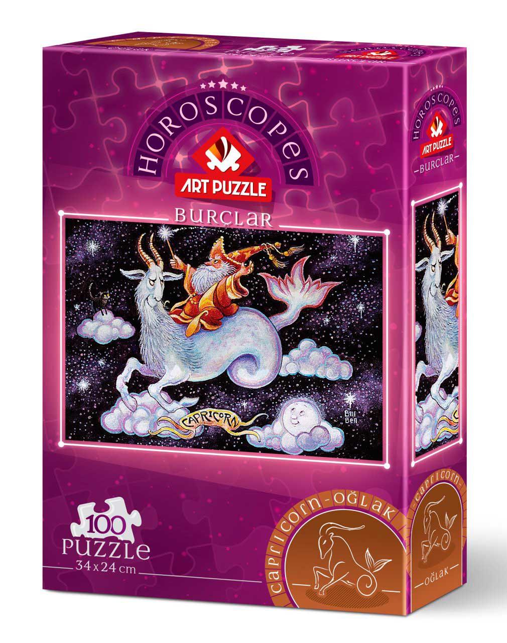 Puzzle Art Puzzle Horóscopo Capricornio de 100 Piezas