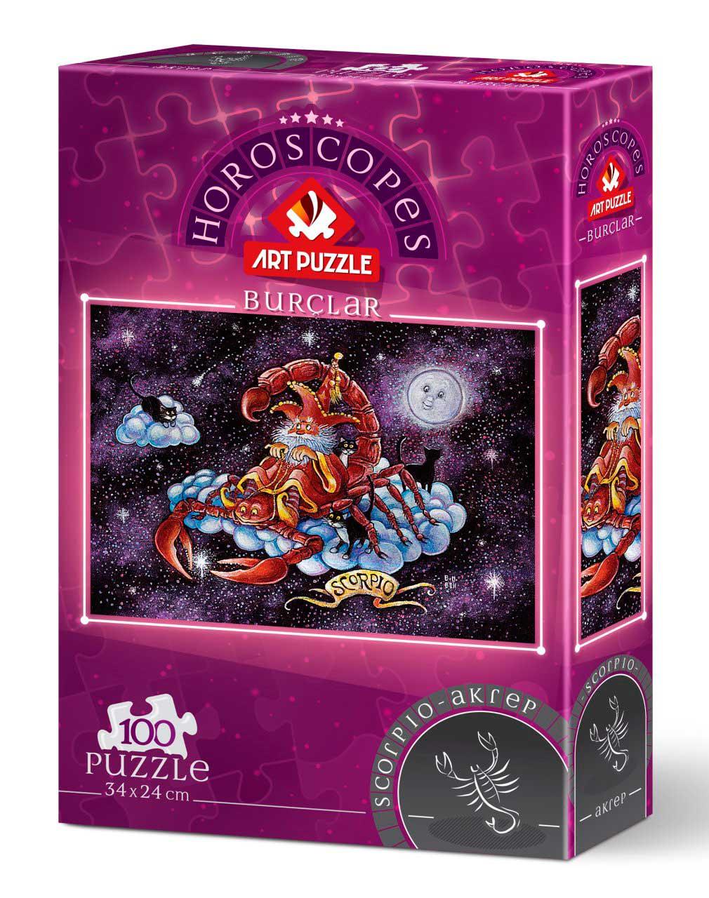 Puzzle Art Puzzle Horóscopo Escorpio de 100 Piezas