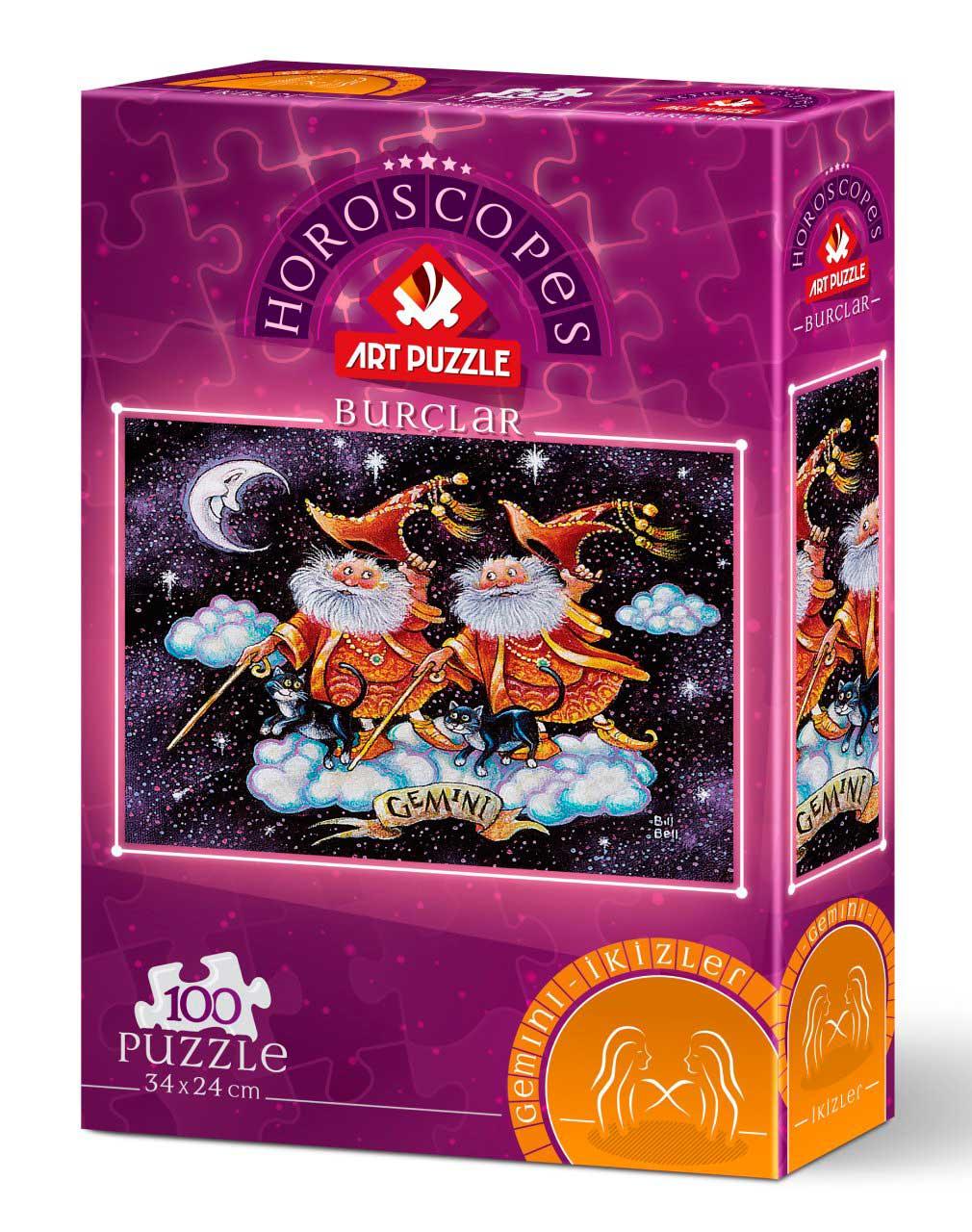 Puzzle Art Puzzle Horóscopo Géminis de 100 Piezas