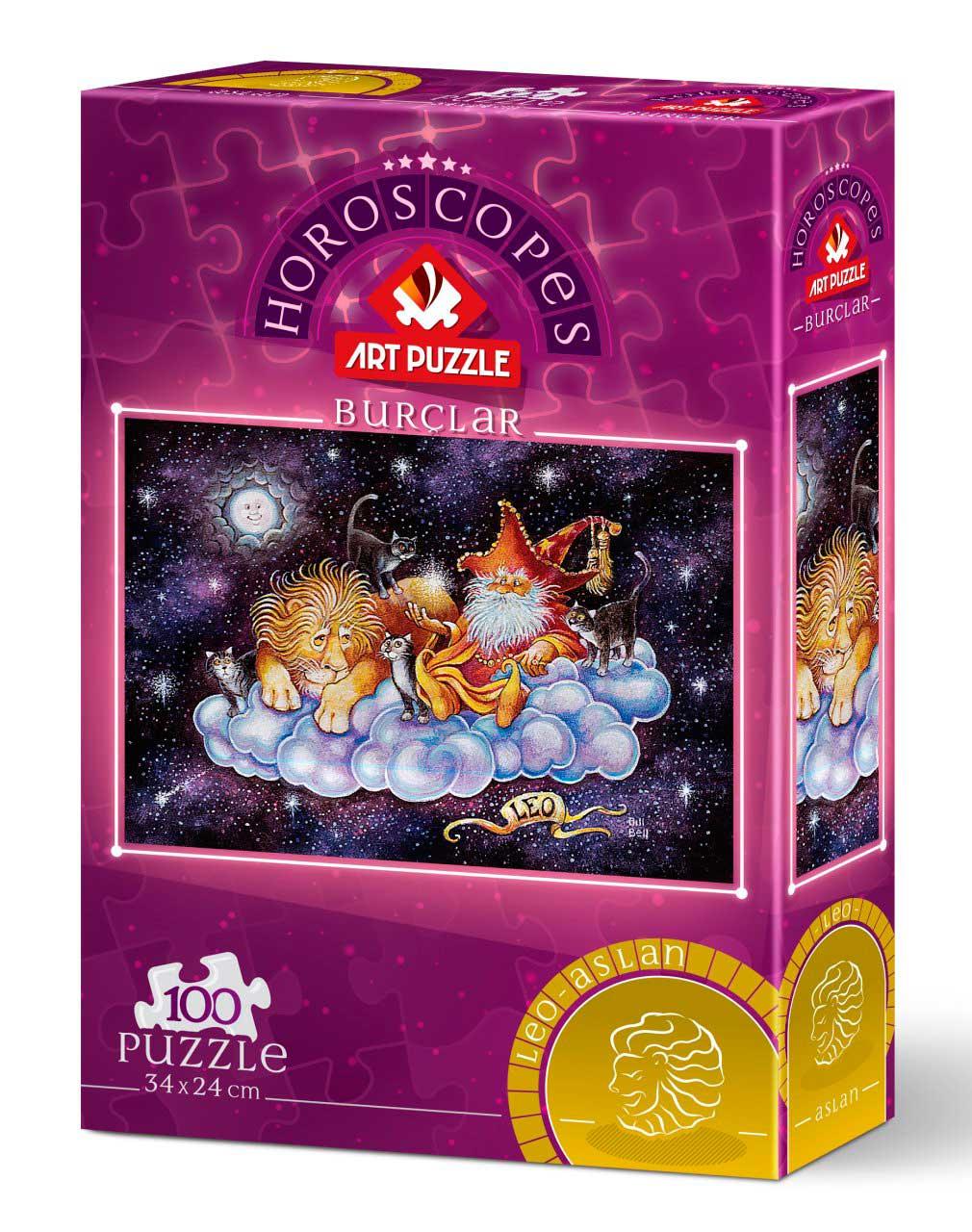 Puzzle Art Puzzle Horóscopo Leo de 100 Piezas