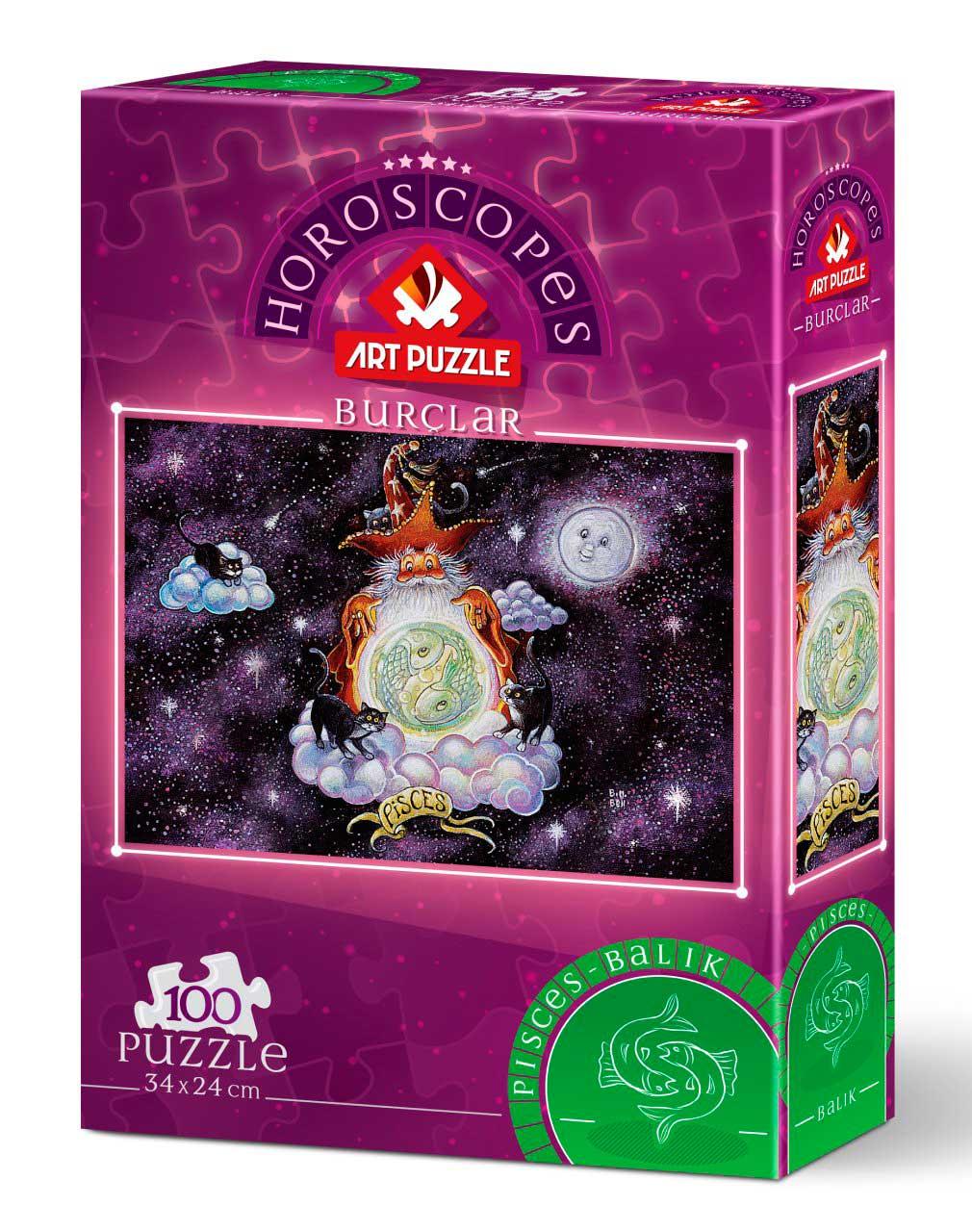 Puzzle Art Puzzle Horóscopo Piscis de 100 Piezas