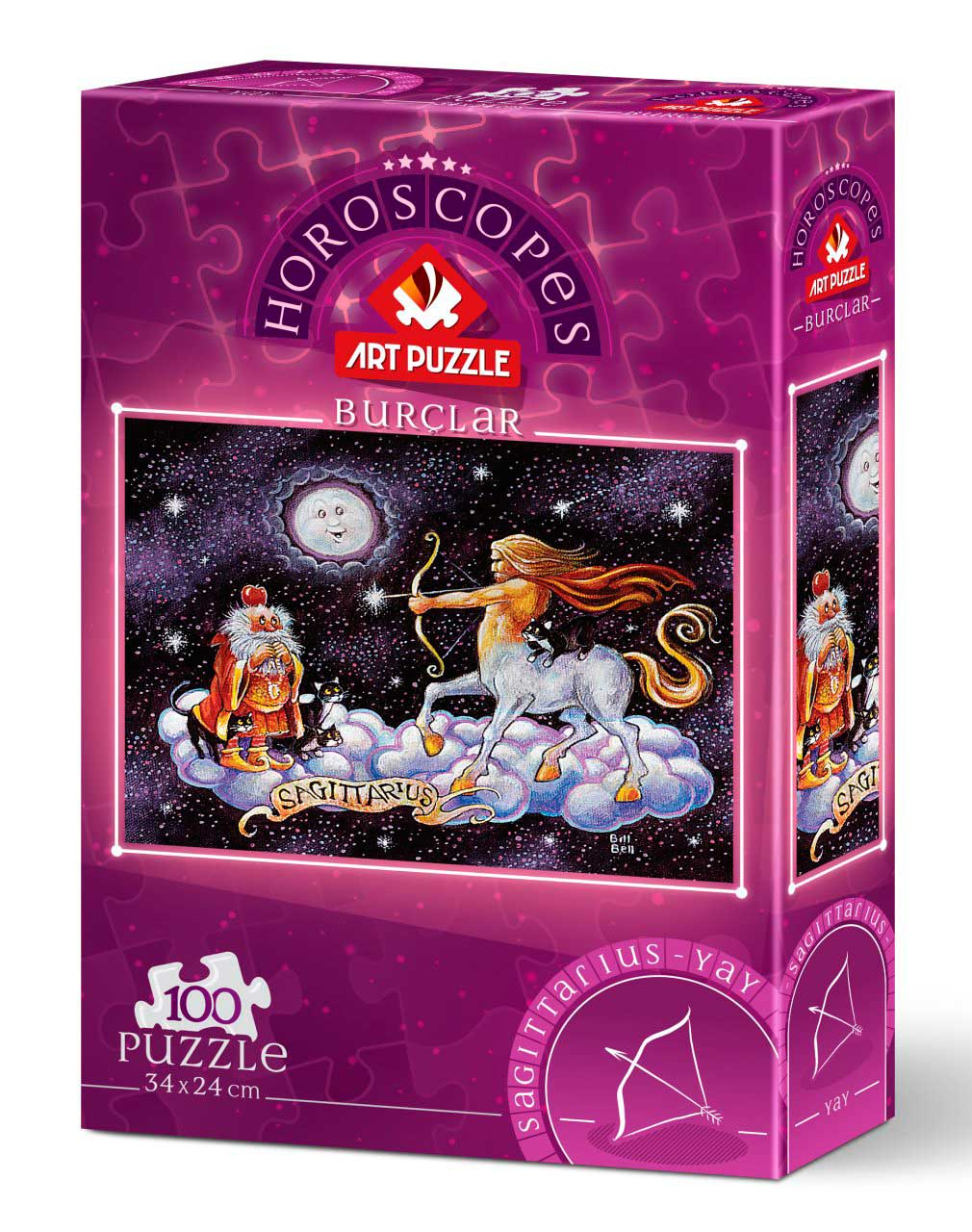 Puzzle Art Puzzle Horóscopo Sagitario de 100 Piezas