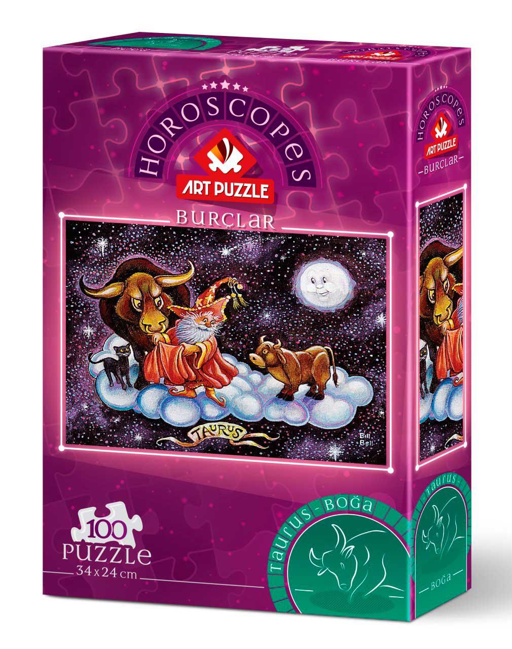 Puzzle Art Puzzle Horóscopo Tauro de 100 Piezas