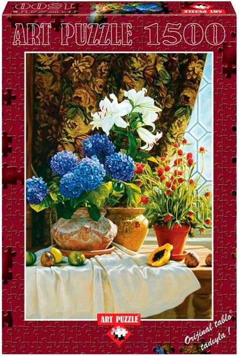 Puzzle Art Puzzle Hortensias de 1500 Piezas