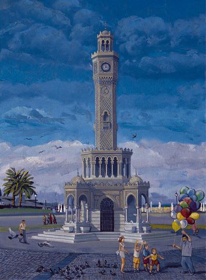 Puzzle Art Puzzle Izmir, La Torre del Reloj de 1000 Piezas