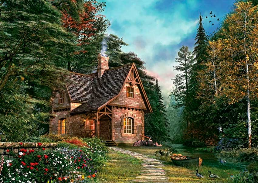Puzzle Art Puzzle La Cabaña del Bosque de 1500 Piezas