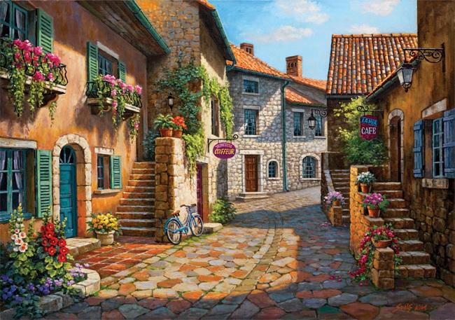 Puzzle Art Puzzle La Calle del Pueblo de 2000 Piezas