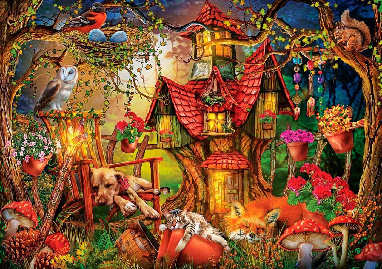 Puzzle Art Puzzle La Hora de Dormir de 1000 Piezas