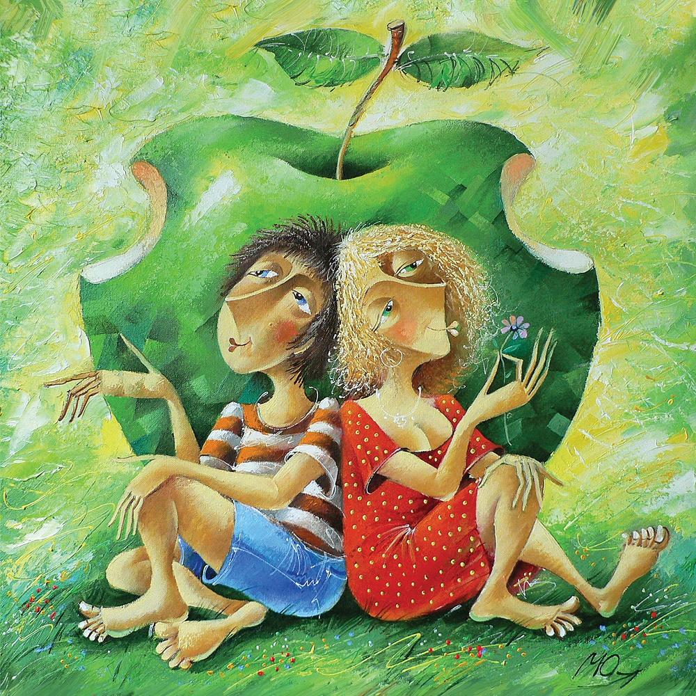 Puzzle Art Puzzle La Manzana Prohibida de 1000 Piezas