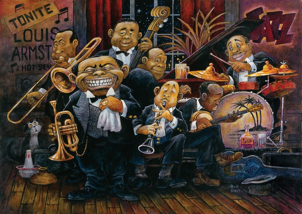 Puzzle Art Puzzle La Orquesta de Louis Armstrong de 1500 Piezas