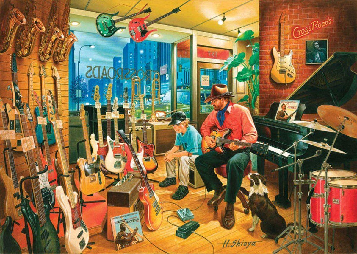 Puzzle Art Puzzle La Tienda de Música de 1500 Piezas