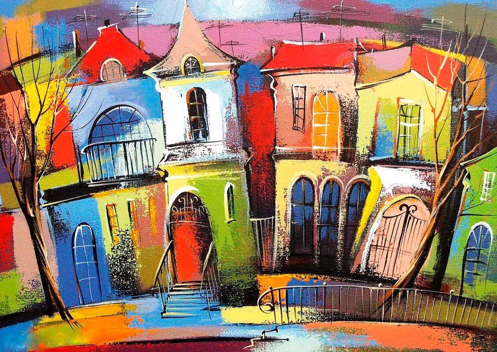 Puzzle Art Puzzle Las Casas de Cuento de Hadas de 500 Piezas