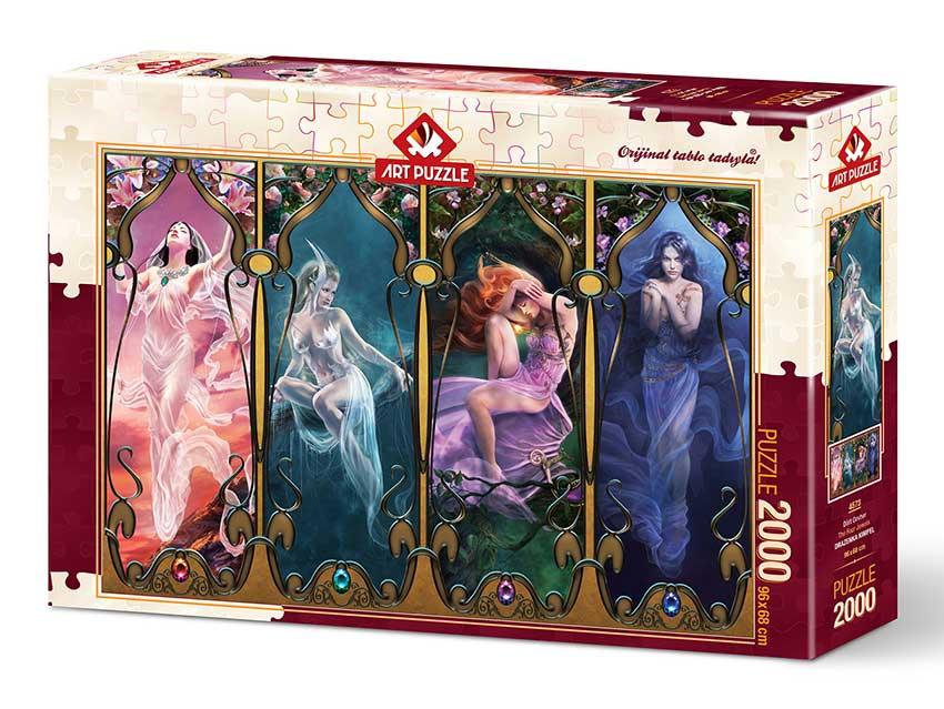 Puzzle Art Puzzle Las Cuatro Joyas de 2000 Piezas