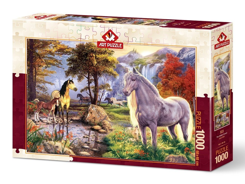 Puzzle Art Puzzle Los Caballos Ocultos de 1000 Piezas