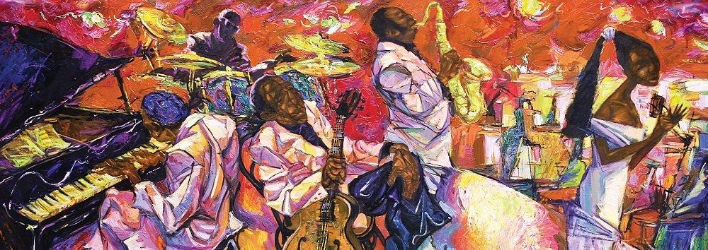 Puzzle Art Puzzle Los Colores del Jazz Panorámico de 1000 Pzs