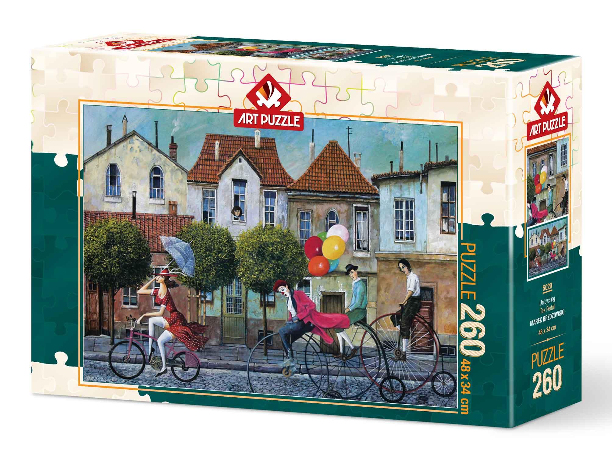 Puzzle Art Puzzle Los Monociclos de 260 Piezas