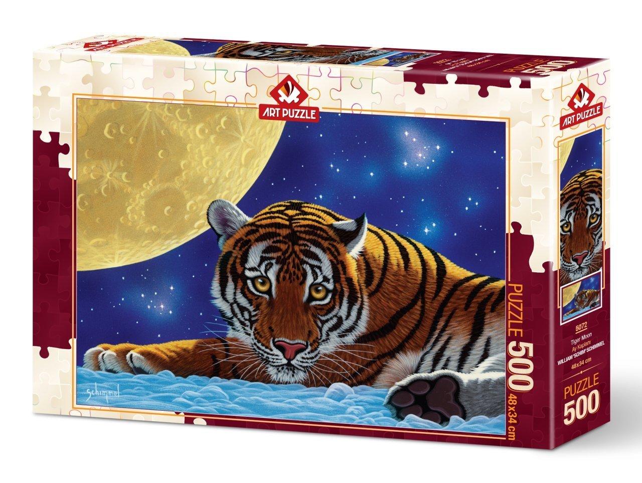 Puzzle Art Puzzle El Tigre y la Luna de 500 Piezas
