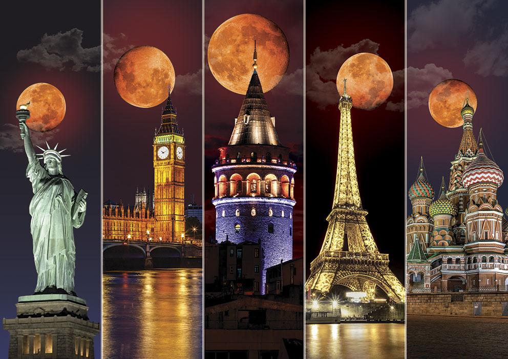Puzzle Art Puzzle Lunas Llenas del Mundo de 1500 Piezas