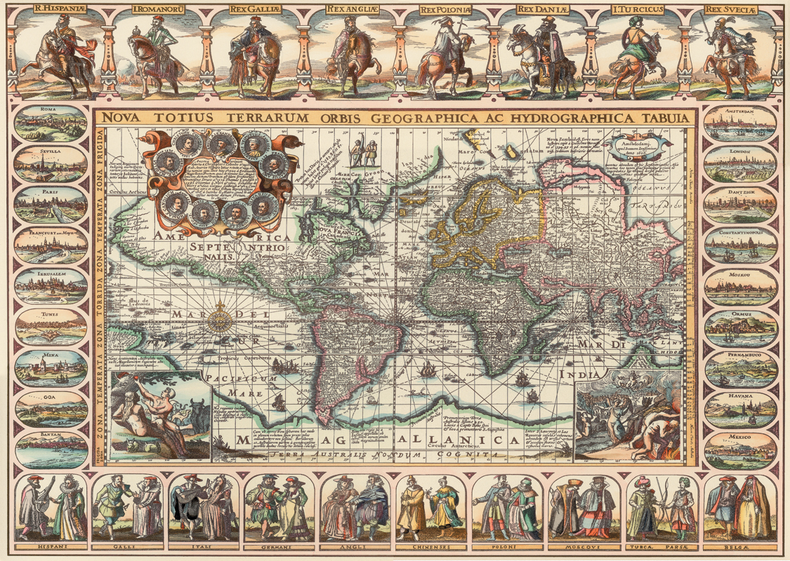 Puzzle Art Puzzle Mapa del Mundo Antiguo de 2000 Piezas