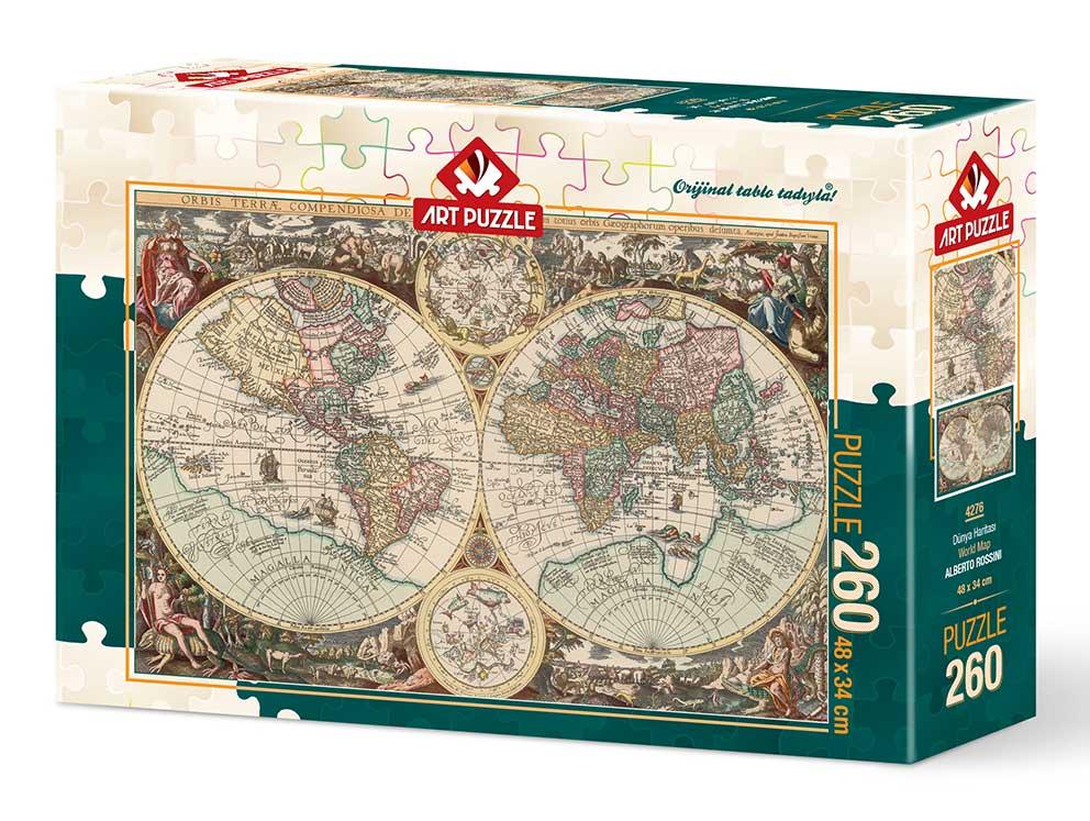 Puzzle Art Puzzle Mapa del Mundo de 260 Piezas
