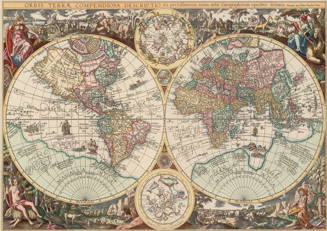 Puzzle Art Puzzle Mapamundi Antiguo de 1500 Piezas