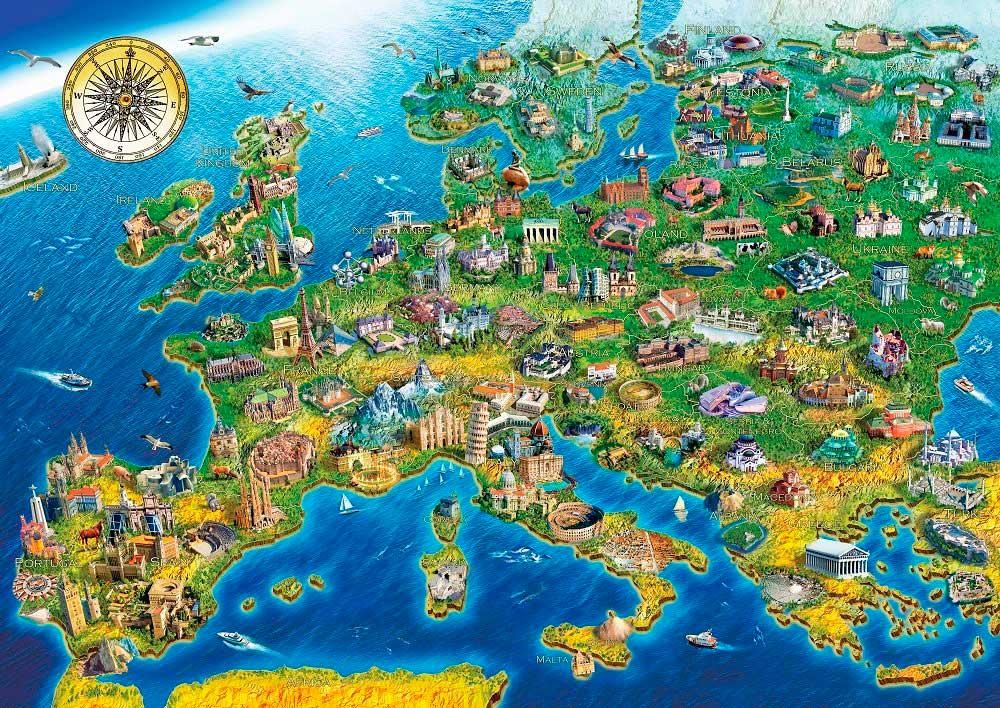 Puzzle Art Puzzle Maravillas del Mundo de 2000 Piezas