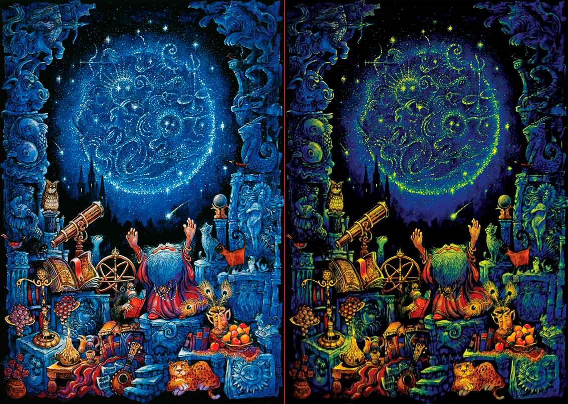 Puzzle Art Puzzle Noche Astrológica Neón de 1000 Piezas