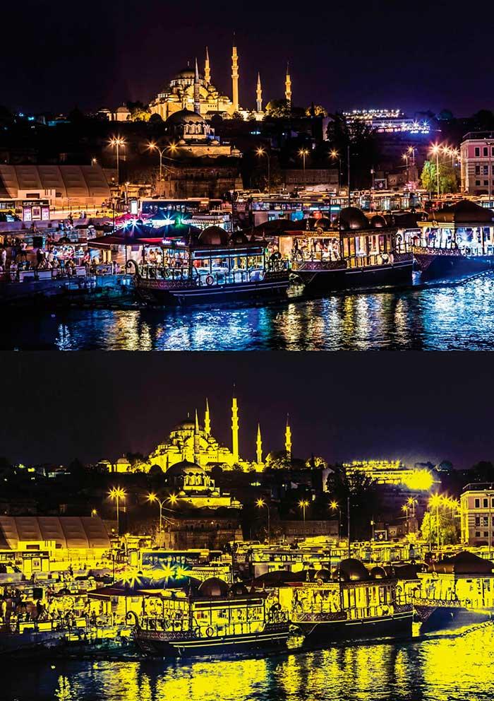 Puzzle Art Puzzle Noche en Estambul Neón de 1000 Piezas