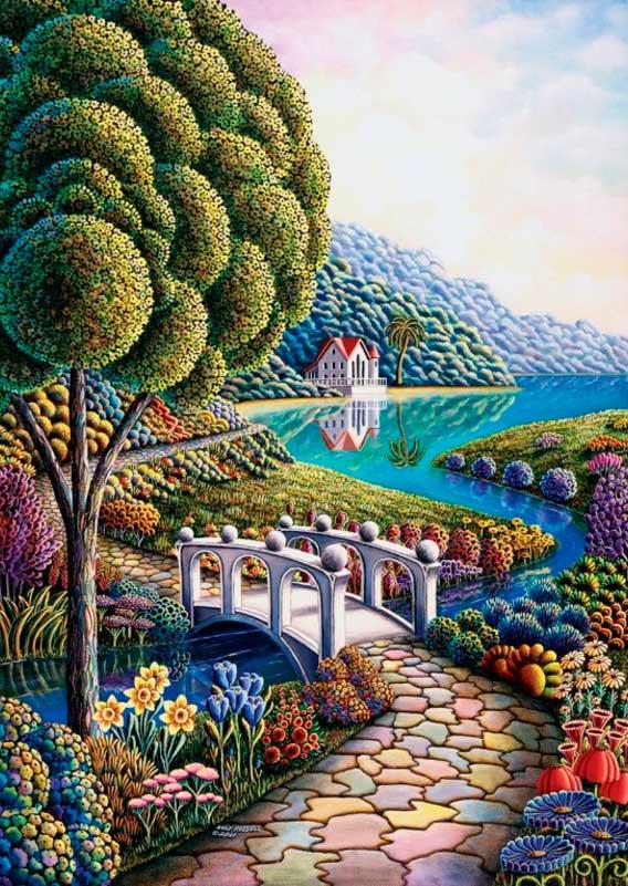 Puzzle Art Puzzle Orillas de Flores 1000 Piezas