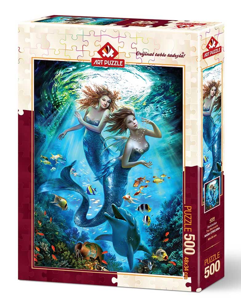 Puzzle Art Puzzle Pareja de Sirenas de 500 Piezas