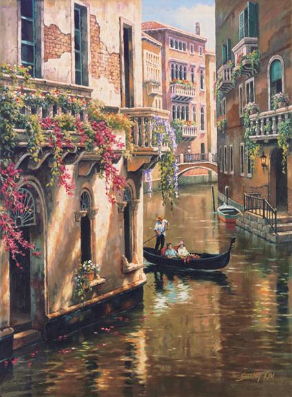 Puzzle Art Puzzle Paseo por Venecia de 1500 Piezas