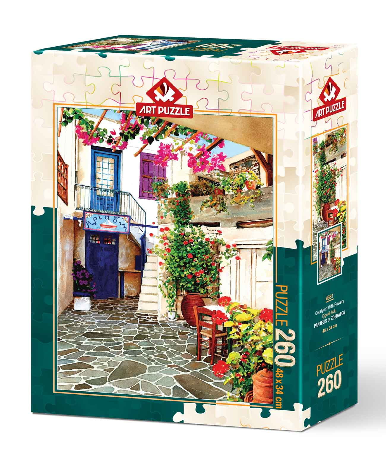 Puzzle Art Puzzle Patio con Flores de 260 Piezas