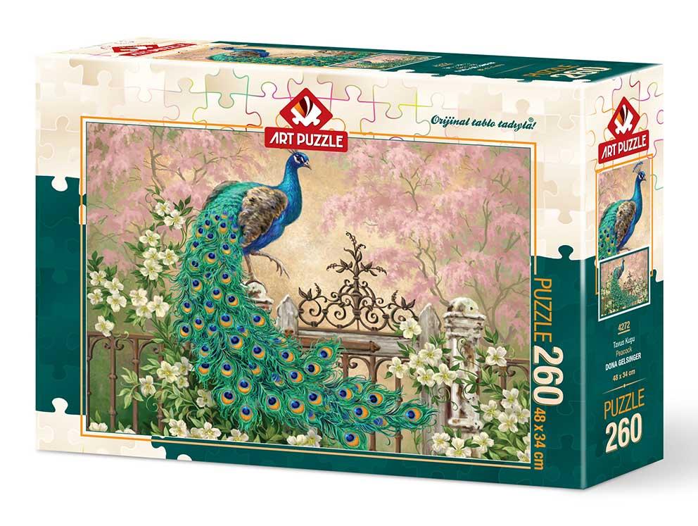 Puzzle Art Puzzle Pavo en el Jardín de 260 Piezas