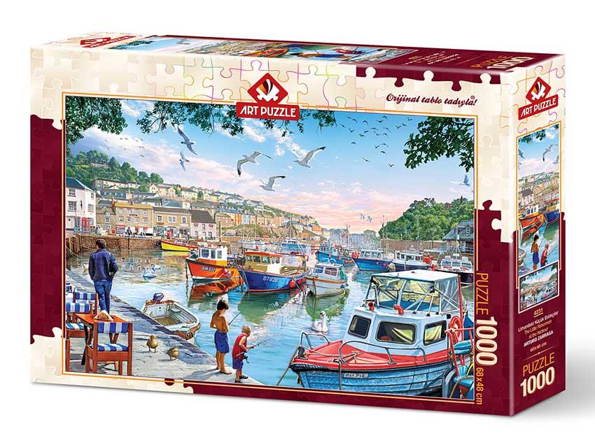 Puzzle Art Puzzle Pequeños Pescadores en el Puerto de 1000 Pieza