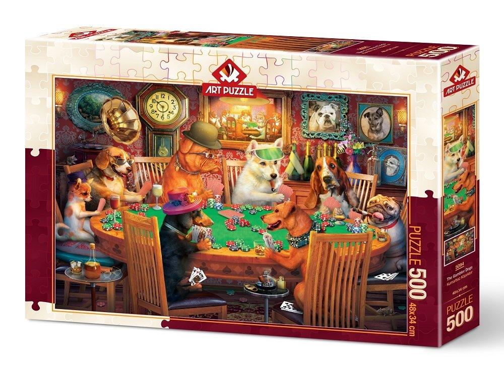 Puzzle Art Puzzle Perros Jugando a las Cartas de 500 Piezas
