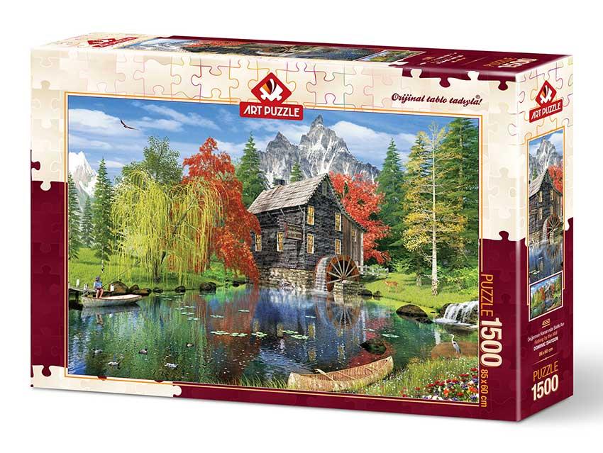 Puzzle Art Puzzle Pescando en el Molino de 1500 Piezas