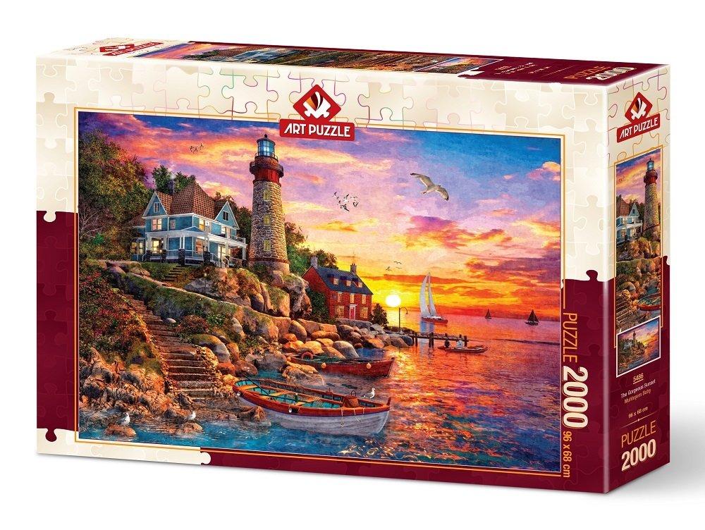 Puzzle Art Puzzle Precioso Faro al Atardecer de 2000 Piezas