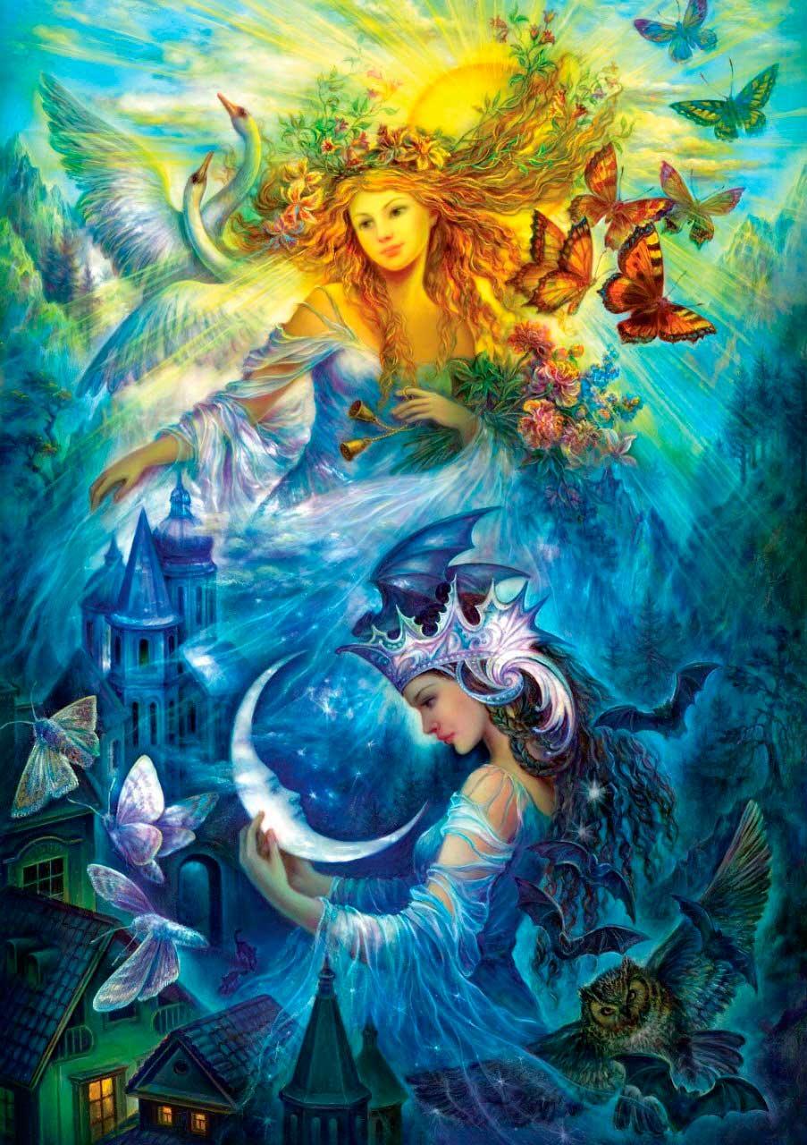 Puzzle Art Puzzle Princesas de Día y Noche de 1000 Piezas