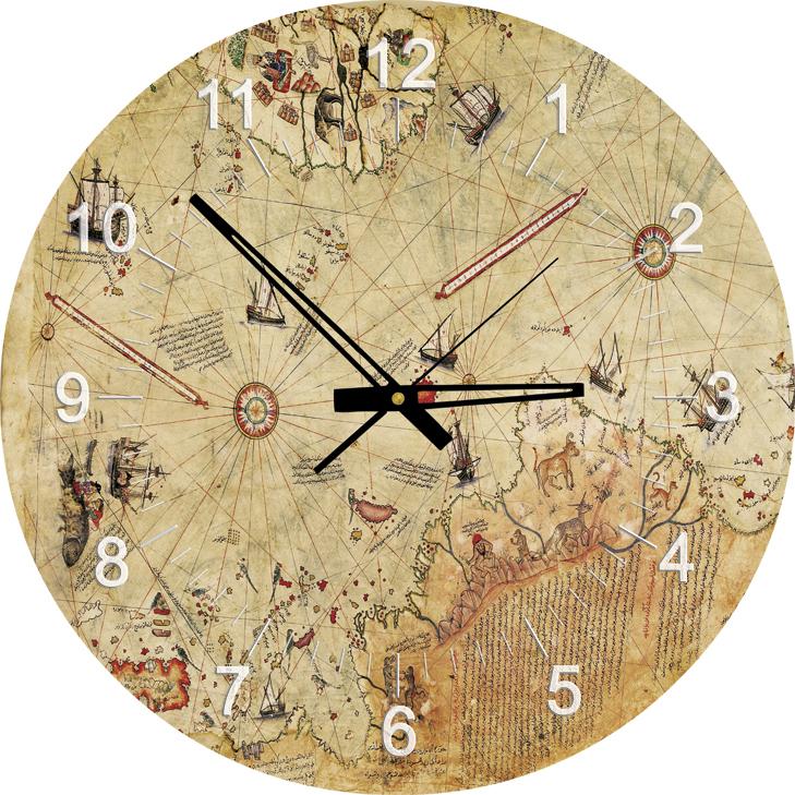 570 Reloj El Mapa Reis Piri De Pieza Puzzle Art YbeW9DH2EI