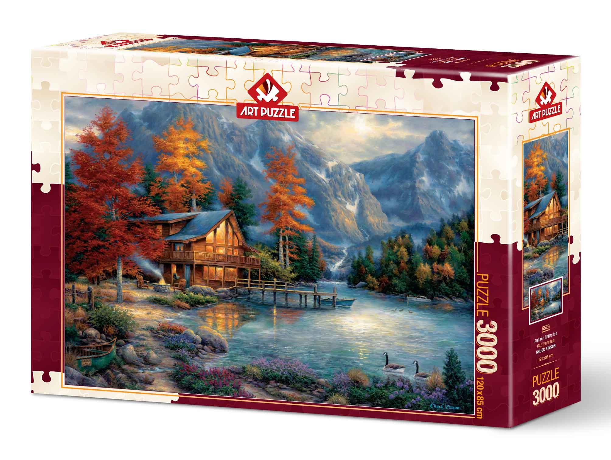 Puzzle Art Puzzle Reflejo de Otoño de 3000 Piezas