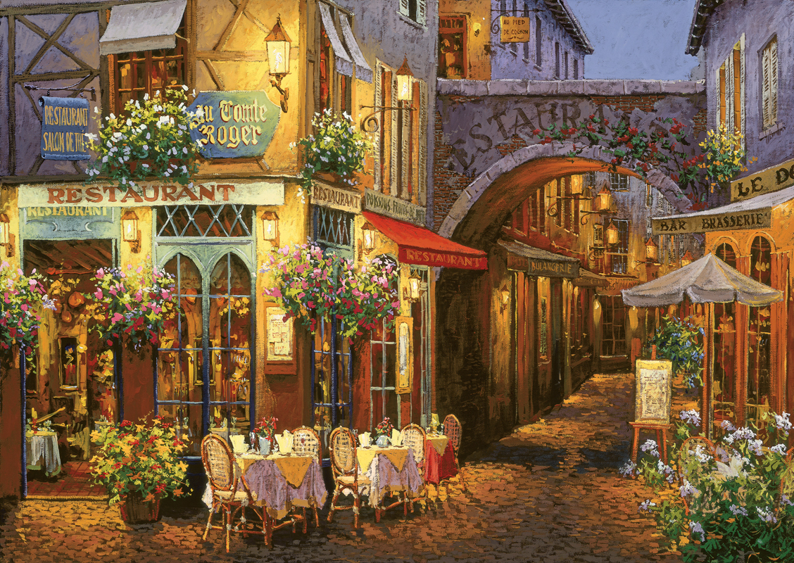 Puzzle Art Puzzle Restaurante Francés de 1500 Piezas