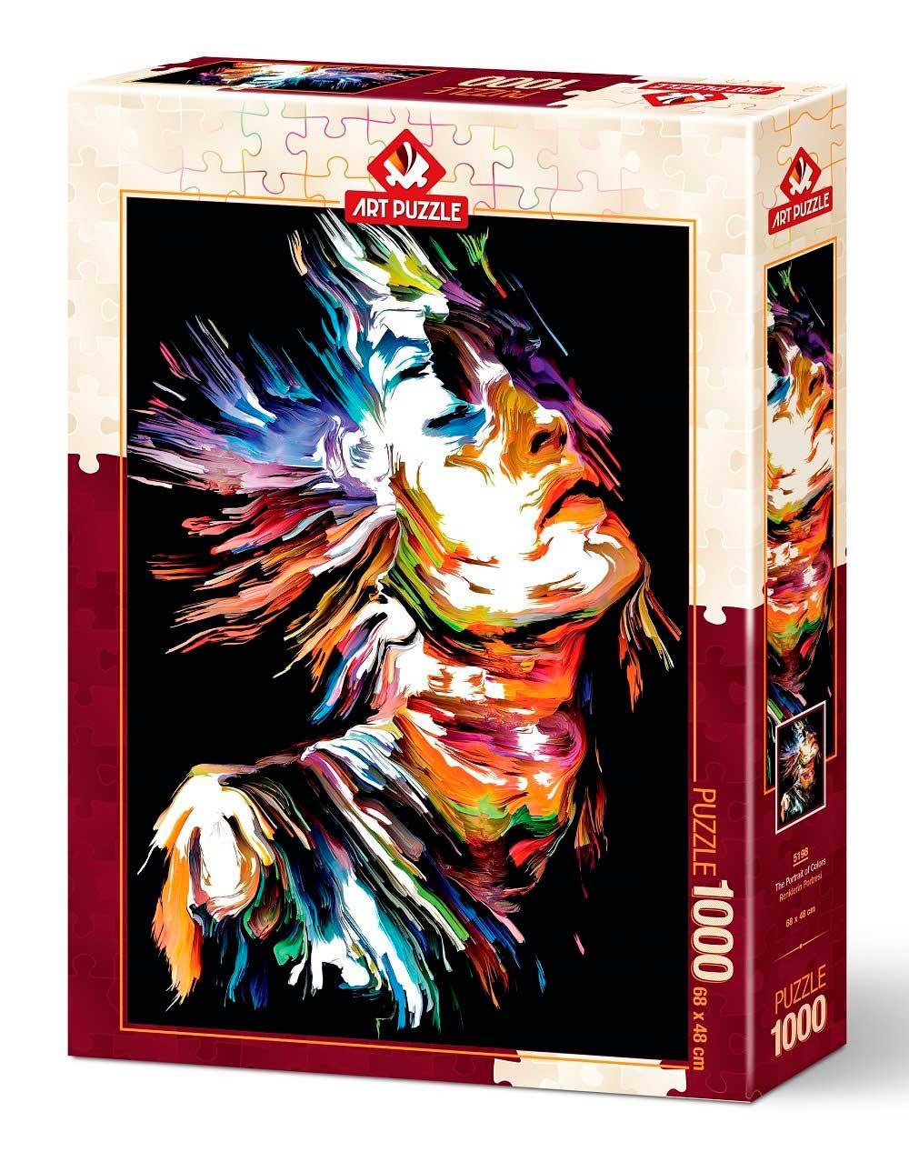 Puzzle Art Puzzle Retrato de Colores de 1000 Piezas