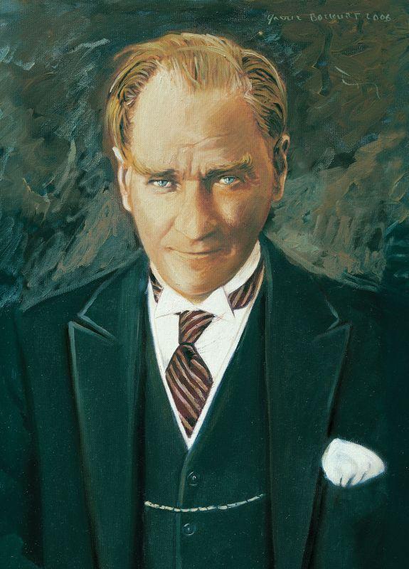 Puzzle Art Puzzle Retrato de Mustafa Kemal Ataturk de 1000 Pieza