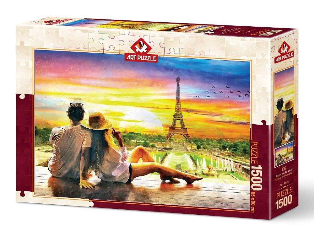 Puzzle Art Puzzle Romance al Atardecer de 1500 Piezas