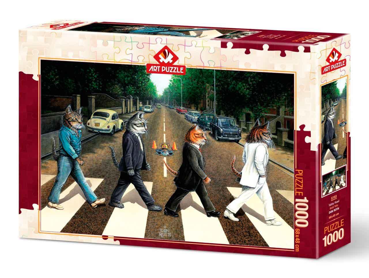 Puzzle Art Puzzle Tabby Road de 1000 Piezas